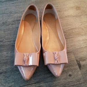 J Crew Patent leather bow flats